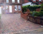 AFTER: Marshalls Tegula paving laid at 45 degree to the property