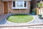 Circle lawn edged with pavers