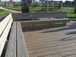 Timber decking and seating constructed for primary school