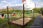 Sandpits installed at children's nursery's with fox and vermin proof covers
