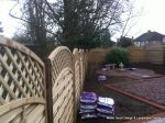 New treated lattice curve top fence supplied and installed