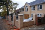 Double brick walls & pillars using matching brick to property with brick on edge to finish