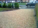 Driveway constructed using Cotswold flat chippings and Tegula edgings