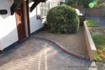 Driveway installed with Marshalls Driveline 50 in a mix of colours with Charcoal soldier course