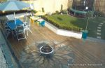 Sandstone sunflower inset in decking
