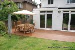 Softwood decking stained to look like expensive Hardwood decking