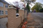 Property was resdential care home ramped pathway was constructed leading from the front of the property to the very rear, retaining walls built with interlocking blocks with added rebar and fresh concrete for strength and faced with house brick, Composite