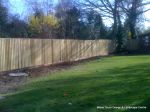 New treated close board feather edge fence supplied and installed