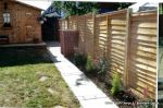 New treated fence panels & timber posts supplied and installed