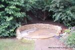 Sandstone circle seating area