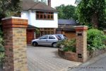 Driveway constructed using Clasico deco paver's set at 45 degree to property New brick pillars built with reinforcement for drive gates