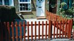 New treated picket fence supplied and installed